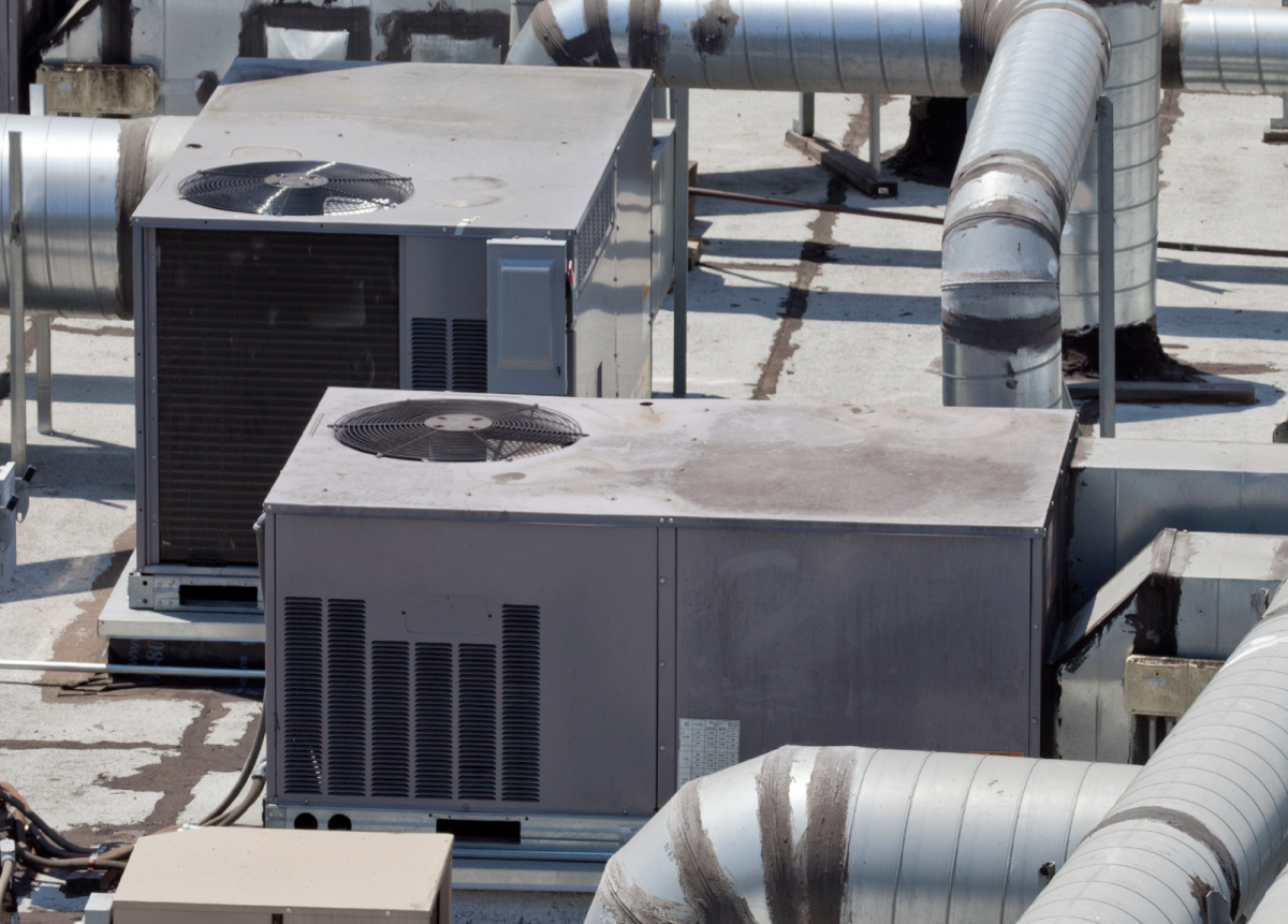 Under most weather conditions, rooftop units are only needed at part load. Source: iStockphoto
