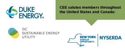 CEE salutes members across the United States and Canada, including Duke Energy, NYSERDA, and DC Sustainable Energy Utility (DCSEU)/